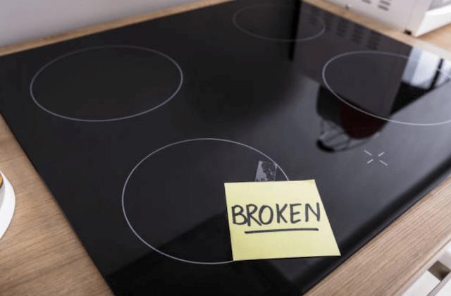 broken stovetop photo